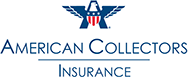 Red and blue American Collectors Insurance logo