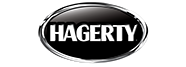 Black and White Hagerty logo