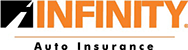Black and Orange Infinity Auto Insurance Logo
